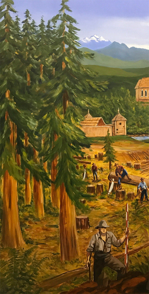 <h2>A 10 Panel Project for the B.C. Farm Museum Painted by Toni Williams & Judy Jordison: Panel 1</h2>