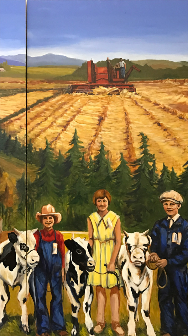 <h2>A 10 Panel Project for the B.C. Farm Museum Painted by Toni Williams & Judy Jordison: Panel 10</h2>