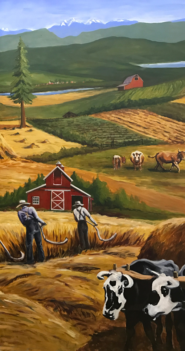 <h2>A 10 Panel Project for the B.C. Farm Museum Painted by Toni Williams & Judy Jordison: Panel 3</h2>