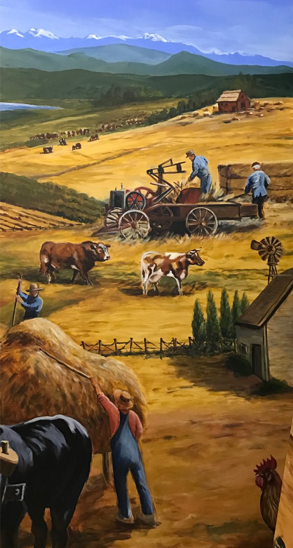 <h2>A 10 Panel Project for the B.C. Farm Museum Painted by Toni Williams & Judy Jordison: Panel 4</h2>