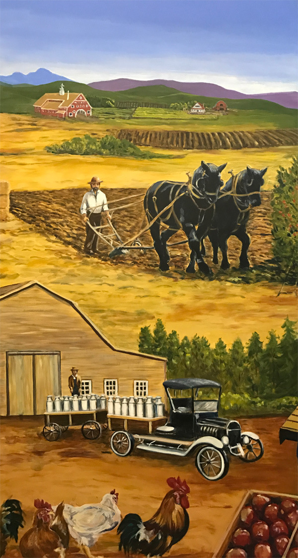 <h2>A 10 Panel Project for the B.C. Farm Museum Painted by Toni Williams & Judy Jordison: Panel 5</h2>