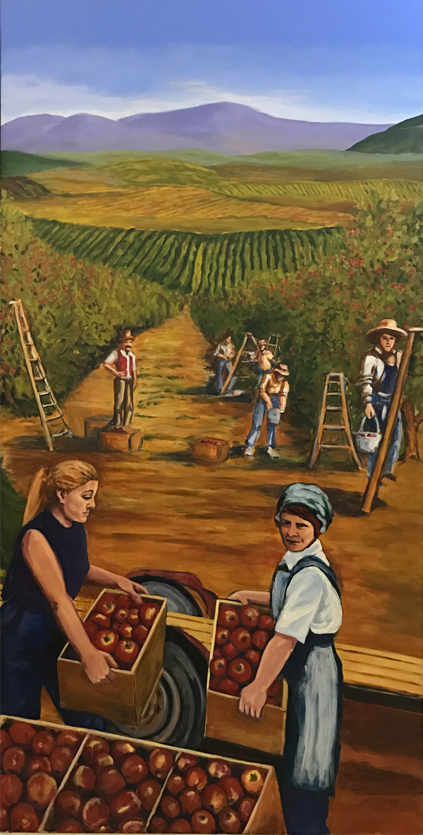 <h2>A 10 Panel Project for the B.C. Farm Museum Painted by Toni Williams & Judy Jordison: Panel 6</h2>