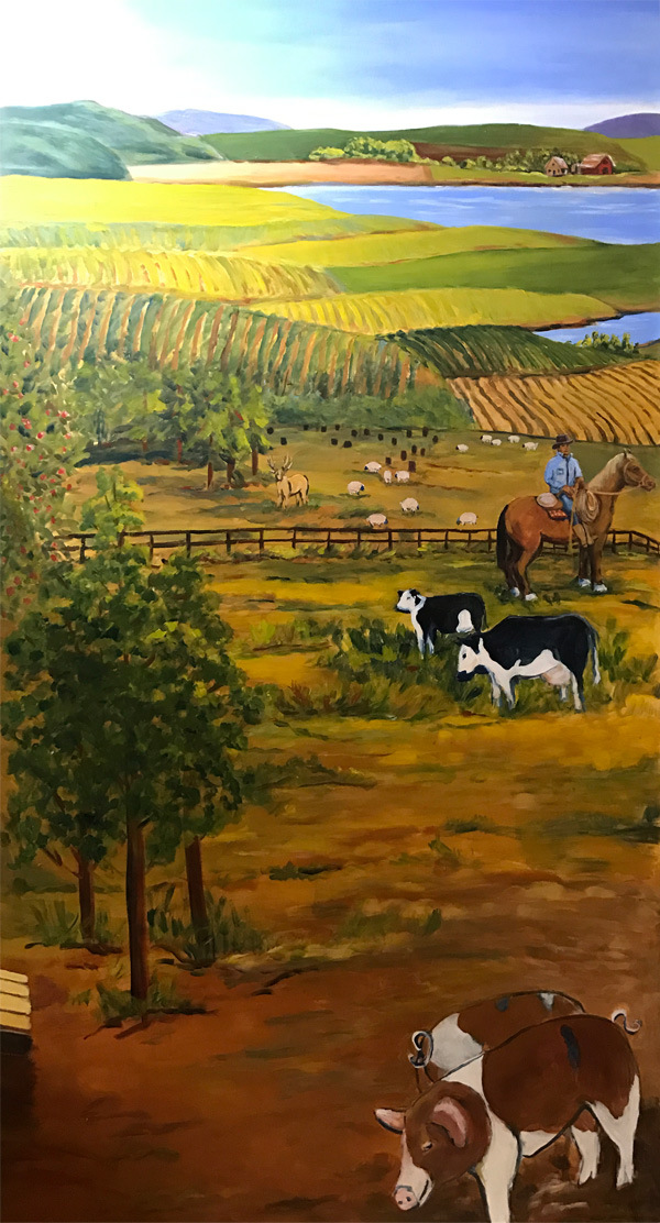 <h2>A 10 Panel Project for the B.C. Farm Museum Painted by Toni Williams & Judy Jordison: Panel 7</h2>