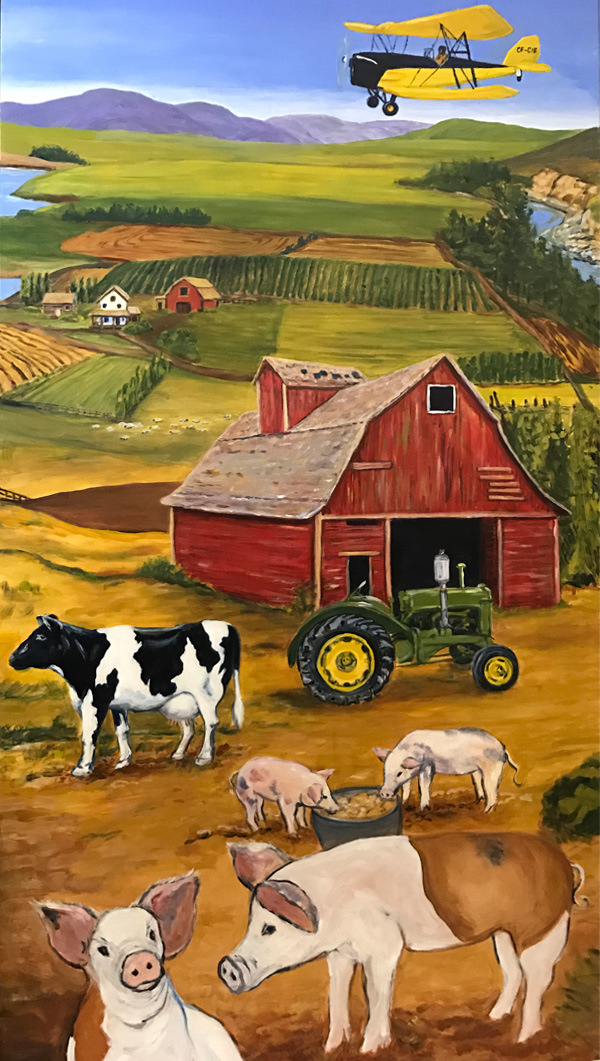 <h2>A 10 Panel Project for the B.C. Farm Museum Painted by Toni Williams & Judy Jordison: Panel 8</h2>