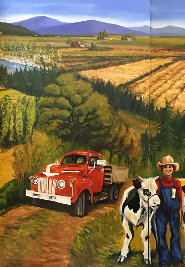 <h2>A 10 Panel Project for the B.C. Farm Museum Painted by Toni Williams & Judy Jordison: Panel 9</h2>