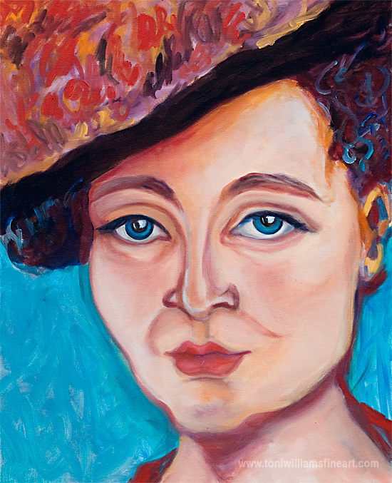 <h2>Lady in Red <br />24 x 30</h2>