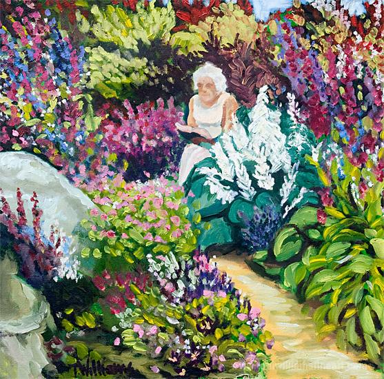 <h2>Nanny in Garden <br />28 x 28</h2>