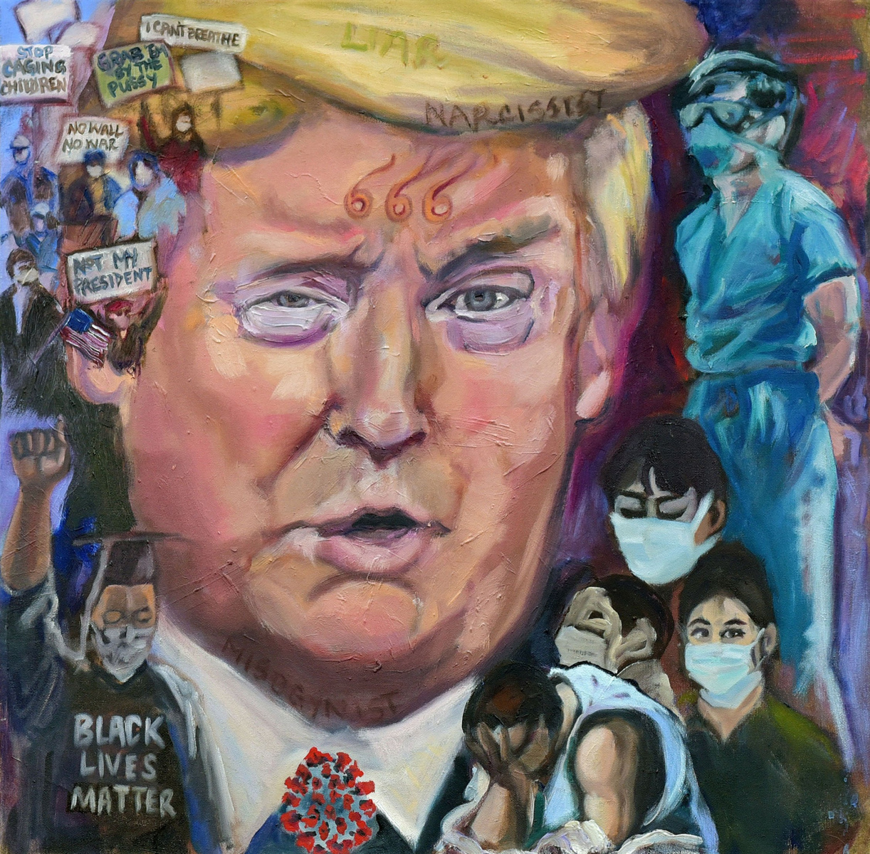 <h2>Trump's Allegory <br />24 x 24</h2>