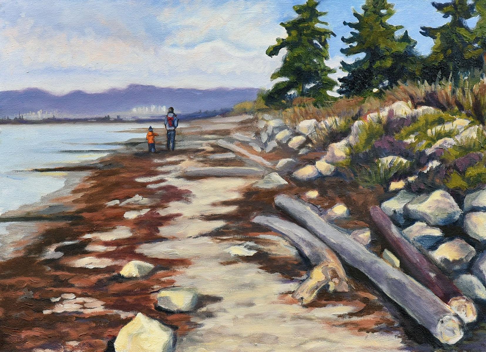 <h2>An Amble At Crescent Beach<br />18 x 24</h2>