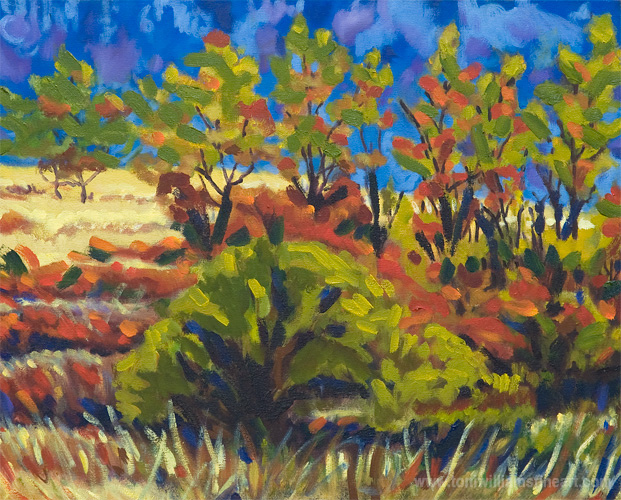 <h2>Autumn Trees Campbell Lake<br /> 20 x 24</h2>