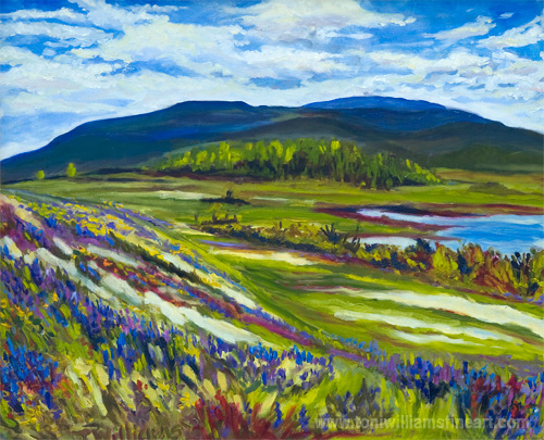 <h2>Campbell Lake, Flowered Fields <br />30 x 36</h2>