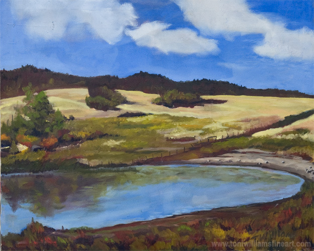 <h2>Campbell Lake Cloudy Day<br />30 x 36</h2>