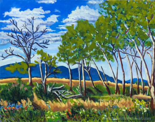 <h2>Campbell Lake Trees <br />24 x 30</h2>