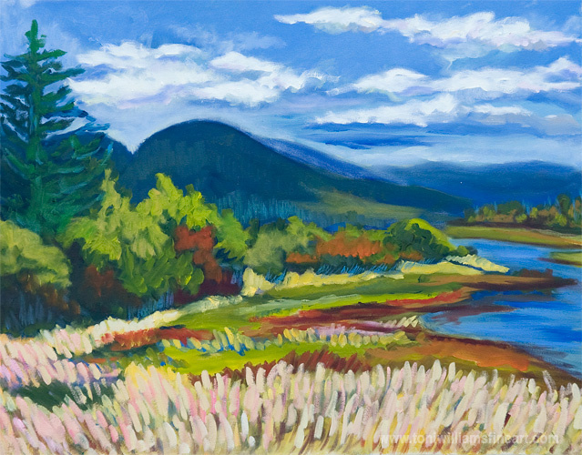 <h2>Campbell Lake in Autumn <br />24 x 30</h2>