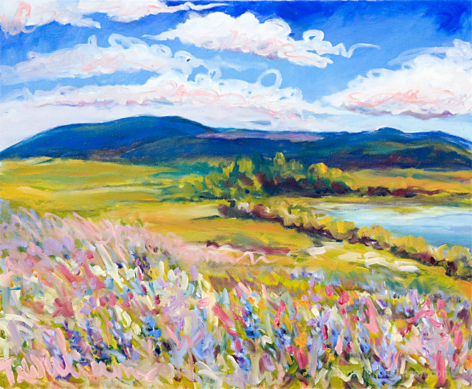 <h2>Campbell Lake in Flower <br />24 x 30</h2>