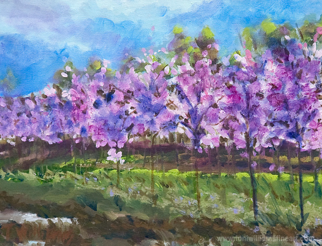<h2>Falling Blossoms <br />8 x 10</h2>