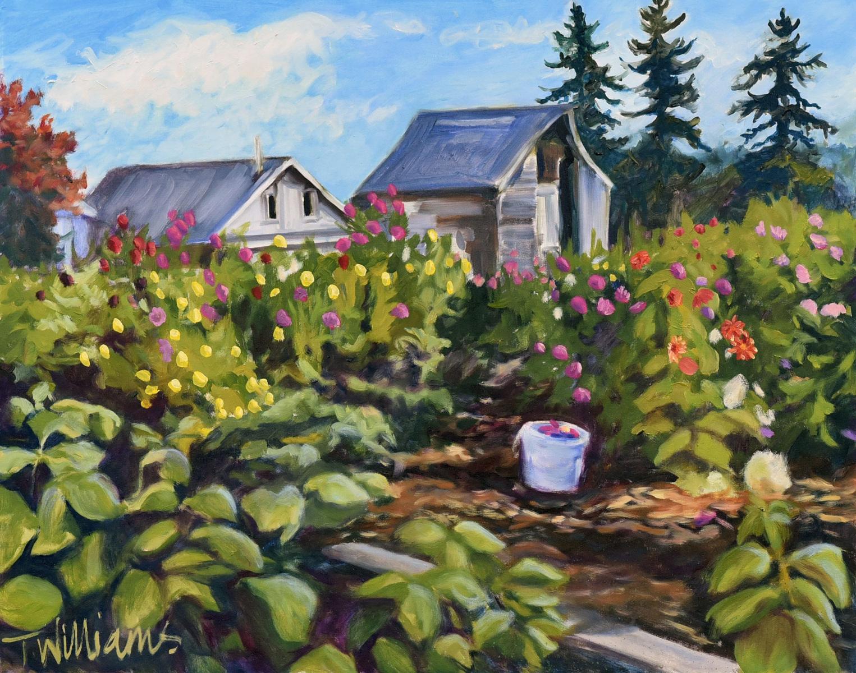 <h2>Farmhouse Garden With Bucket<br />24 x 30</h2>