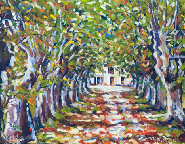 <h2>French Villa in Trees <br />20 x 26</h2>