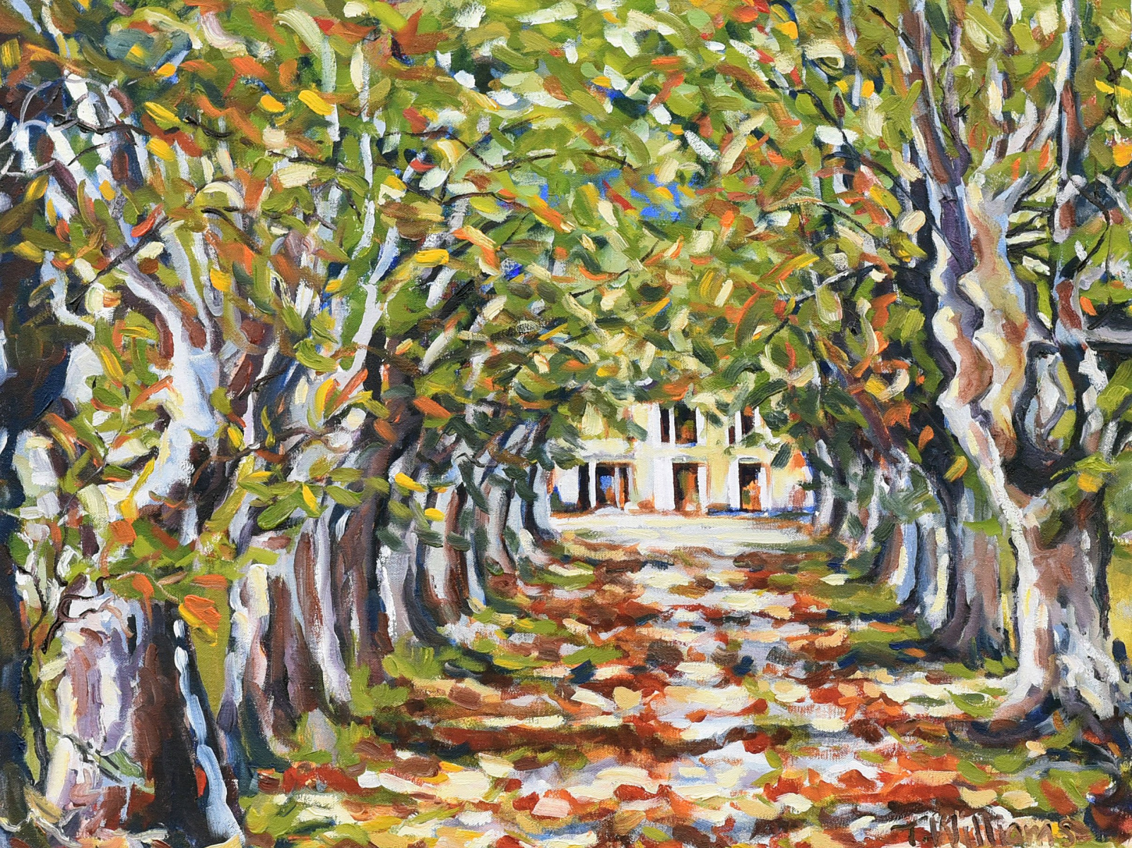 <h2>French Villa Among Trees<br />20 x 26</h2>
