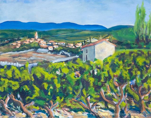 <h2>Italian Village with Vineyard <br />16 x 20</h2>
