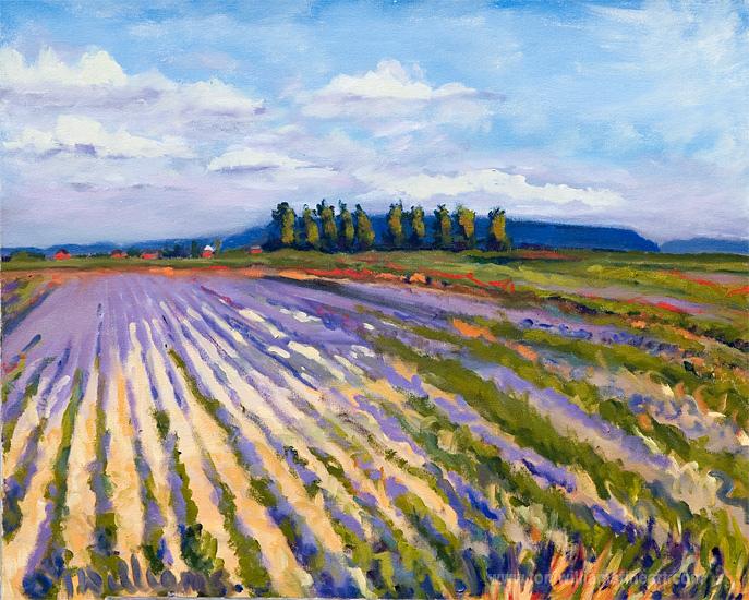 <h2>Ladner Field in Lavendar<br /> 24 x 30</h2>