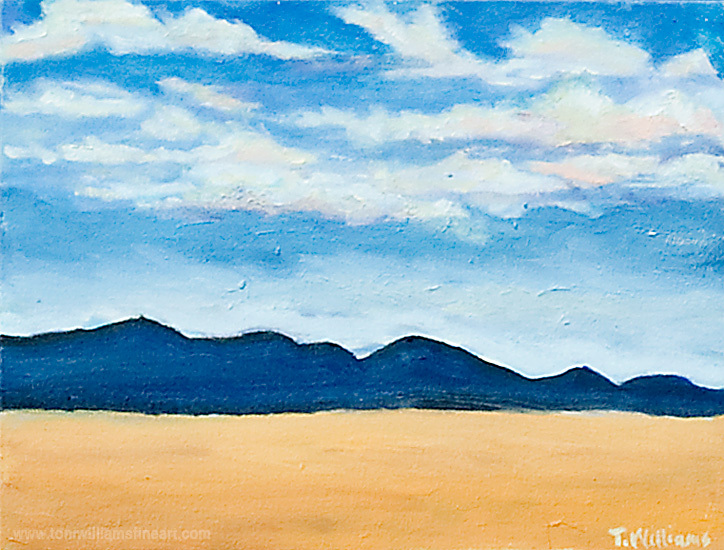 <h2>Mountains and Skyscape<br /> 11 x 14</h2>