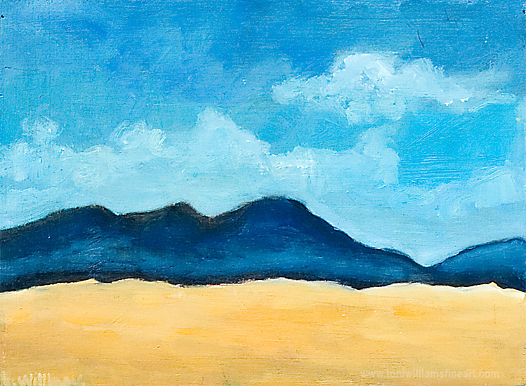 <h2>Mountains and Skyscape II <br />9 x 12</h2>