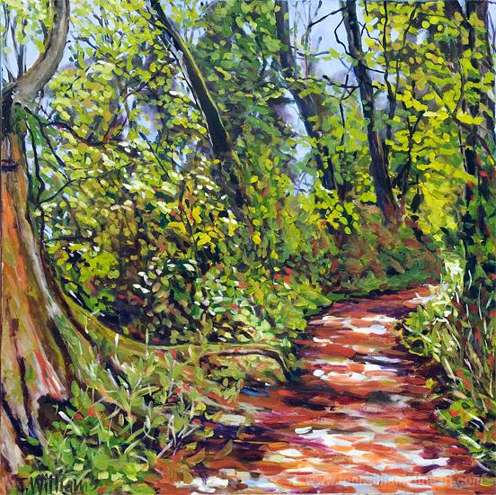 <h2>Pathway Thru Woods <br />30 x 36</h2>