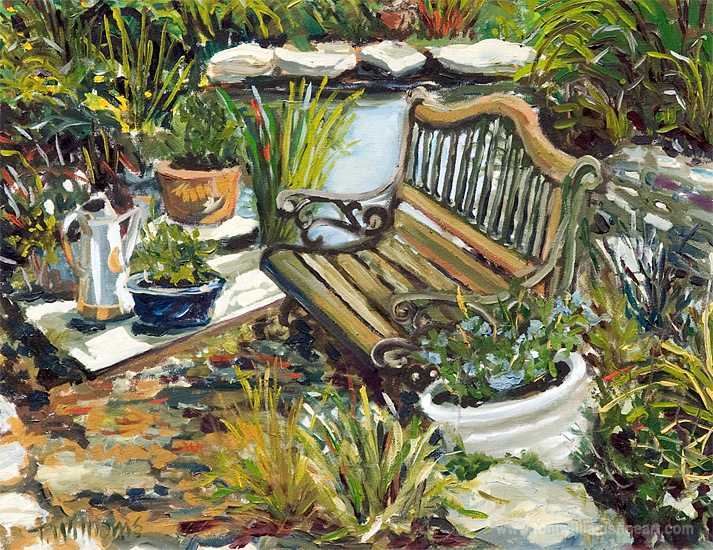 <h2>Pond and Pots <br />16 x 20</h2>