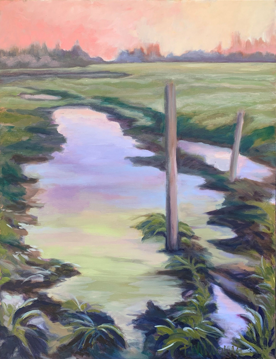 <h2>Puddle With Smoky Skies<br />22 x 28</h2>
