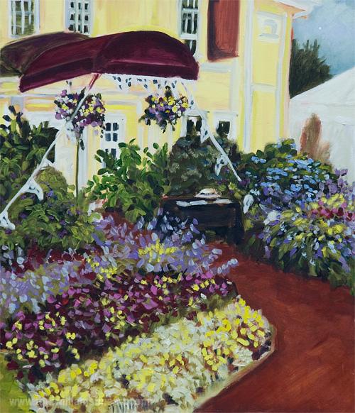 <h2>Qualicum Flowered Entrance <br />20 x 24</h2>
