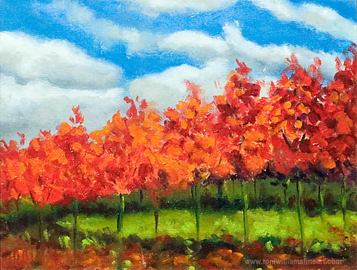 <h2>Red Tree Parade<br /> 10 x 14</h2>