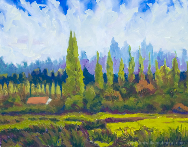 <h2>Small and Large Poplars <br />24 x 30</h2>