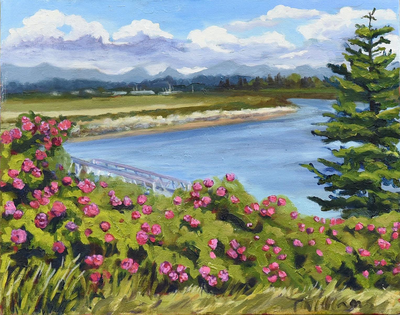 <h2>Rose Bush Bloom, Stewart Farm <br />16 x 20</h2>