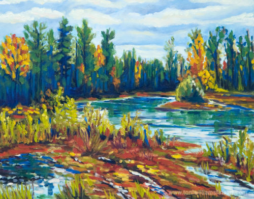 <h2>Stokes Pit in October I<br /> 20 x 24</h2>