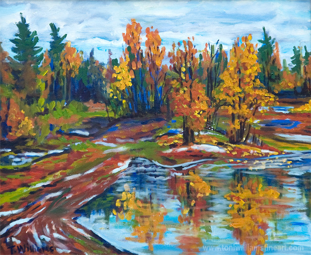 <h2>Stokes Pit in October II <br />20 x 24</h2>