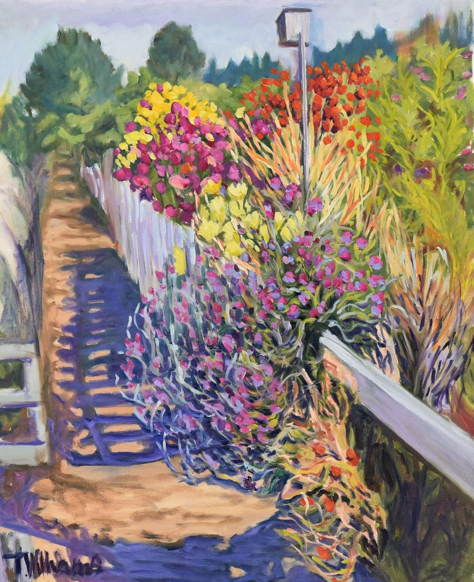 <h2>Sweet Pea Pathway Dunsmeir<br />24 x 30</h2>