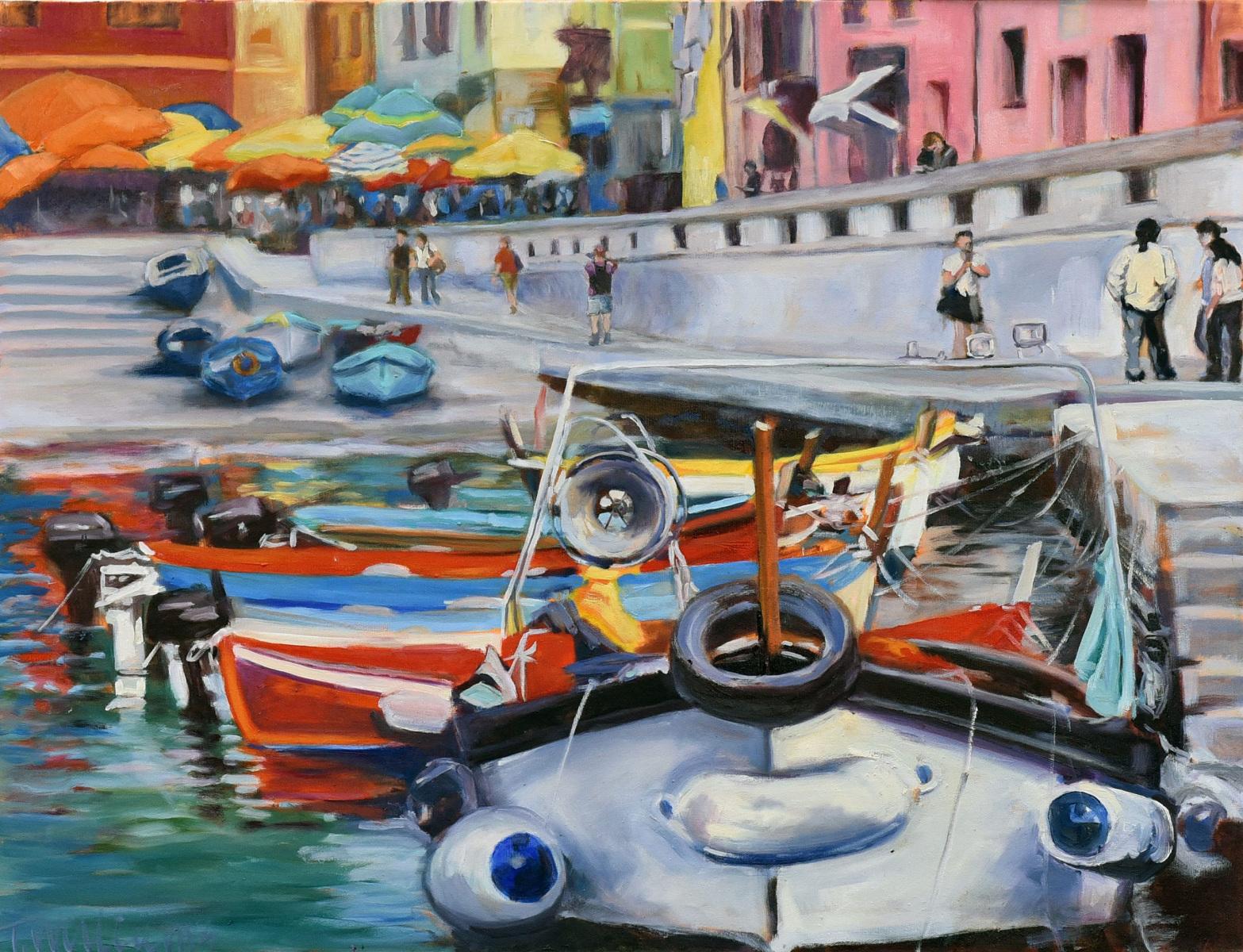 <h2>Vernazzi Boatscape<br />24 x 30</h2>