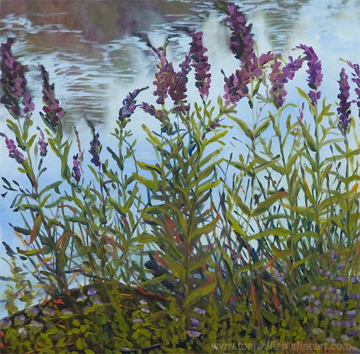 <h2>Weeds on Pond <br />24 x 24</h2>