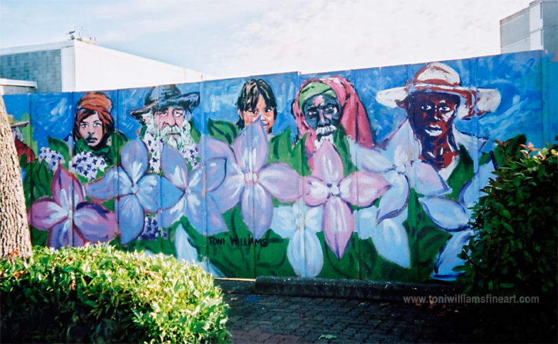 <h2>Mural: Faces and Flowers</h2>