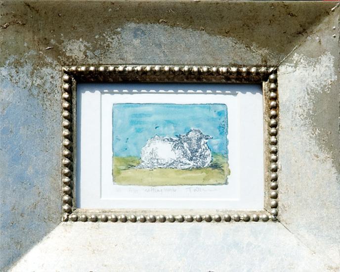 <h2>Sitting Lamb - Litho 6 x 9</h2>