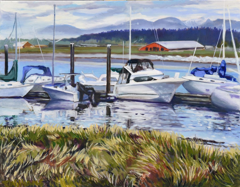<h2>Boats Off Stewart Farm<br />24 x 30</h2>