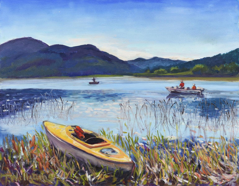<h2>Kayak & Fisherman Campbell Lake<br />24 x 30</h2>