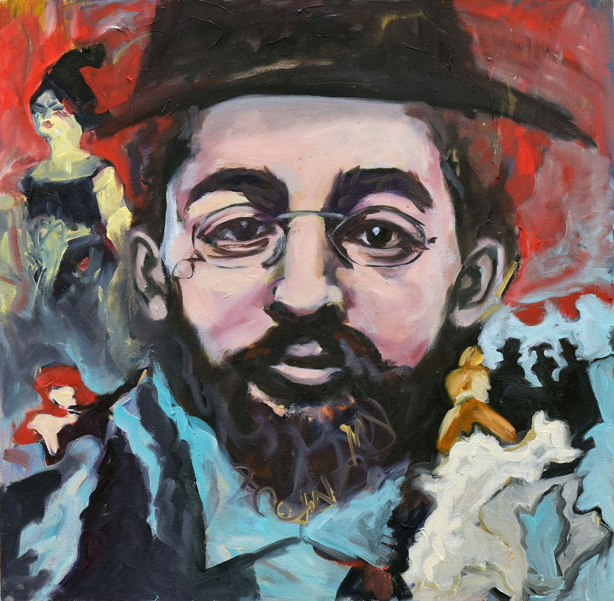 <h2>In Admiration Of Toulouse Lautrec<br />24 x 24</h2>
