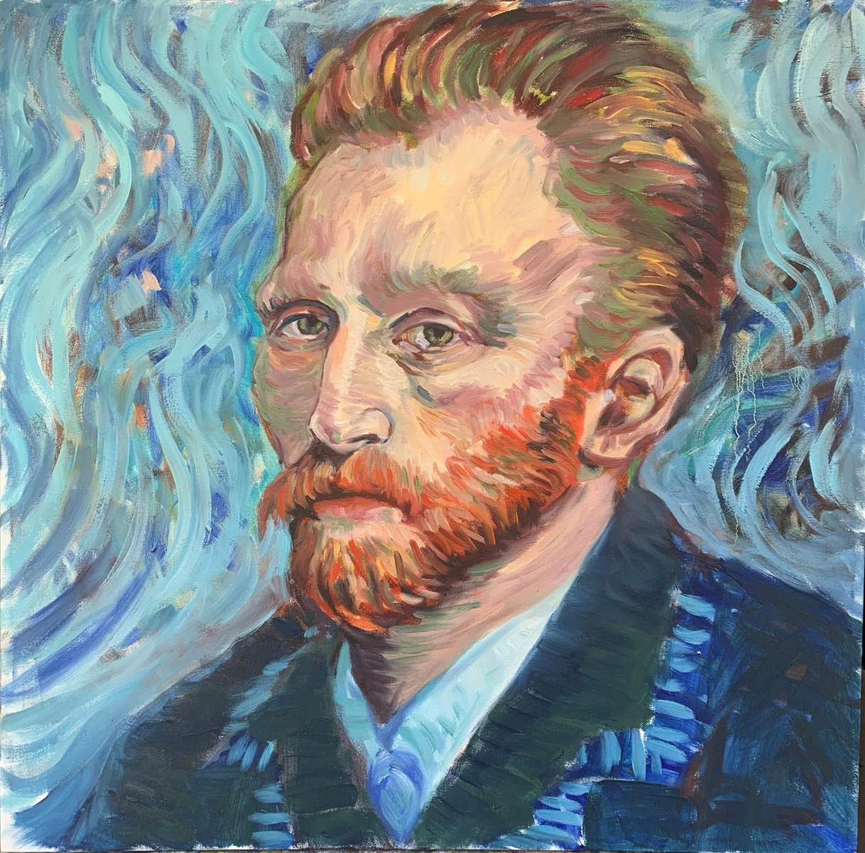 <h2>In Admiration Of Van Gogh<br />24 x 24</h2>