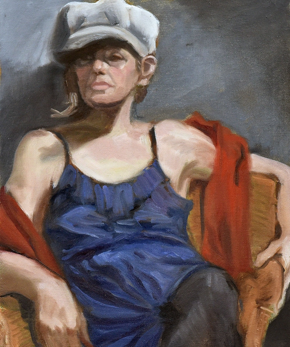 <h2>Model With Hat<br />16 x 20</h2>