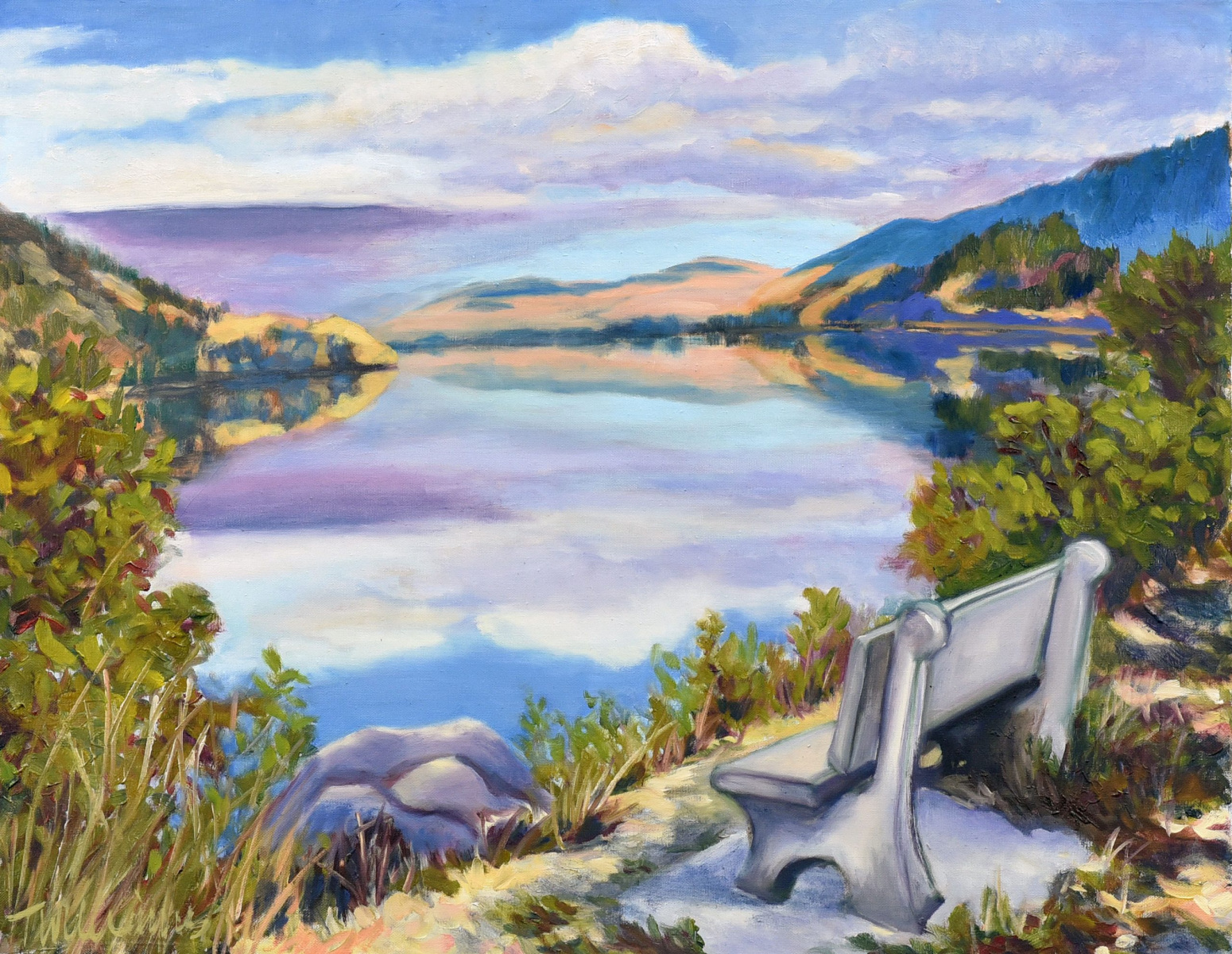 <h2>Nicola Lake View<br />24 x 30</h2>