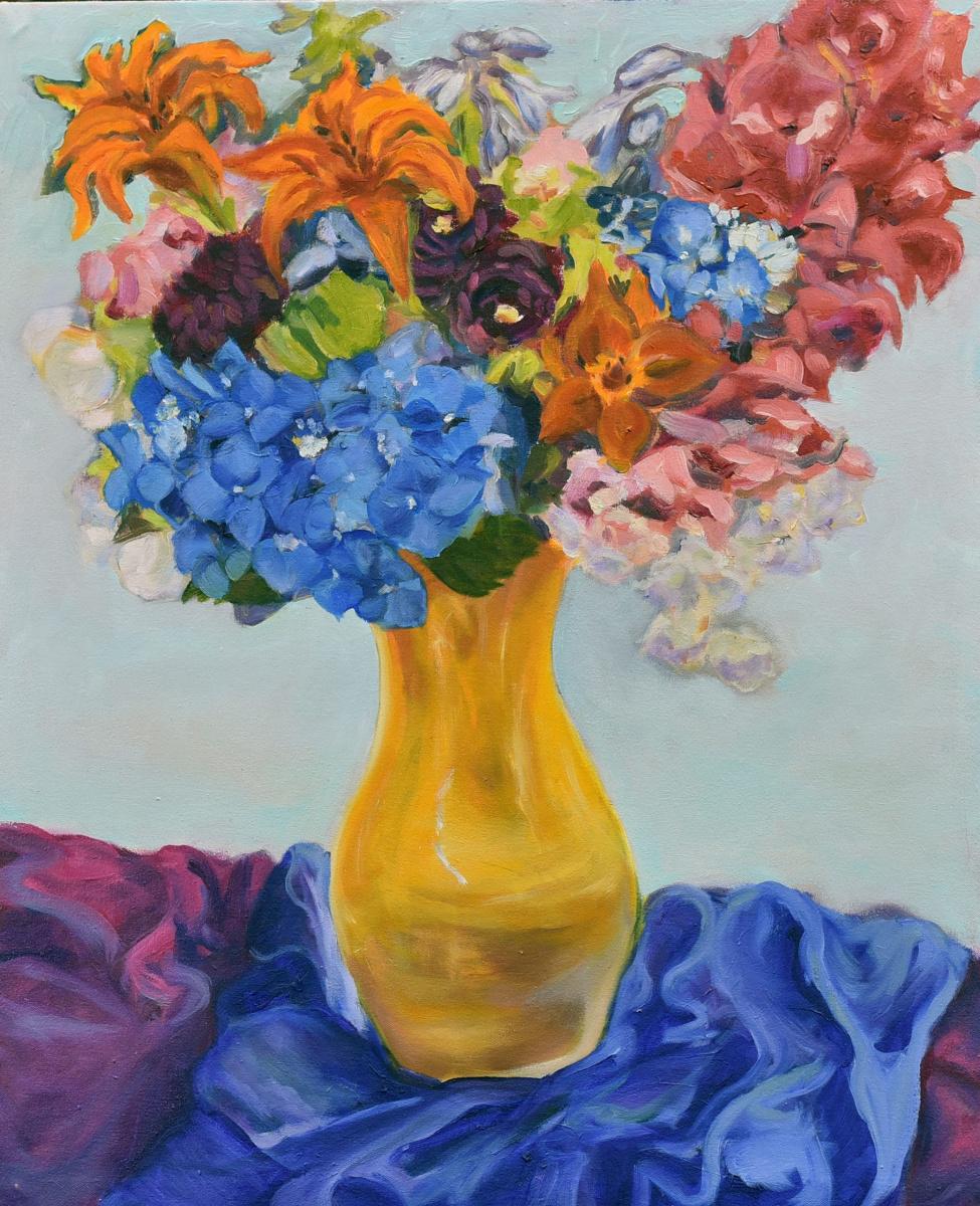 <h2>Still Life With Orange Vase<br />24 x 30</h2>