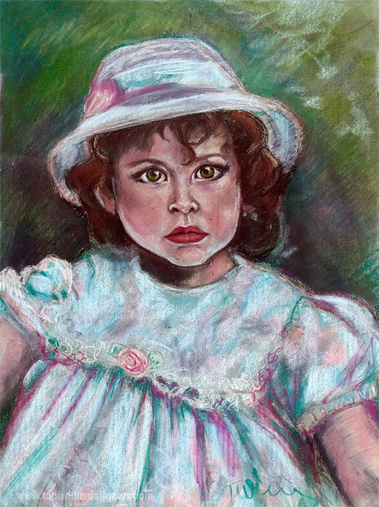 <h2>Kate At Three <br />Pastel 19 x 25 <br /> sold</h2>
