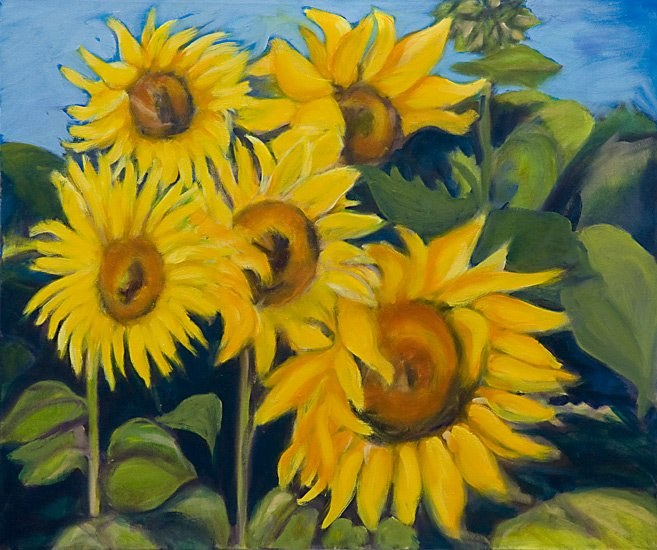 <h2>Sunflowers Four <br />sold</h2>